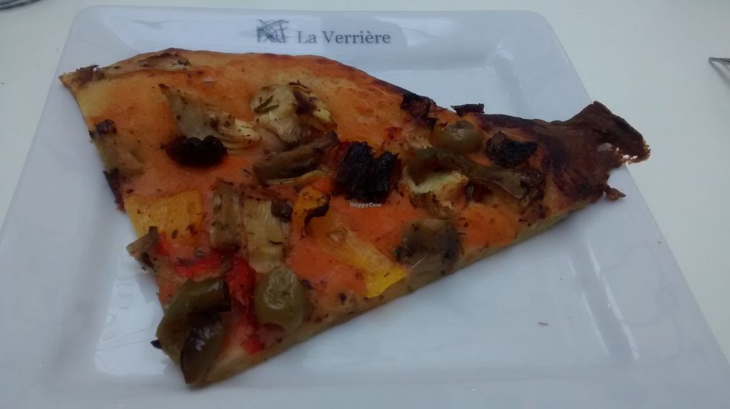 """Photo of La Verriere  by <a href=""""/members/profile/JonJon"""">JonJon</a> <br/>Vegan pizza <br/> October 10, 2015  - <a href='/contact/abuse/image/51744/120803'>Report</a>"""