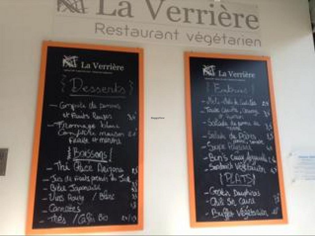 """Photo of La Verriere  by <a href=""""/members/profile/cyberlp23"""">cyberlp23</a> <br/>the menu (october 2014) <br/> October 3, 2014  - <a href='/contact/abuse/image/51744/82039'>Report</a>"""