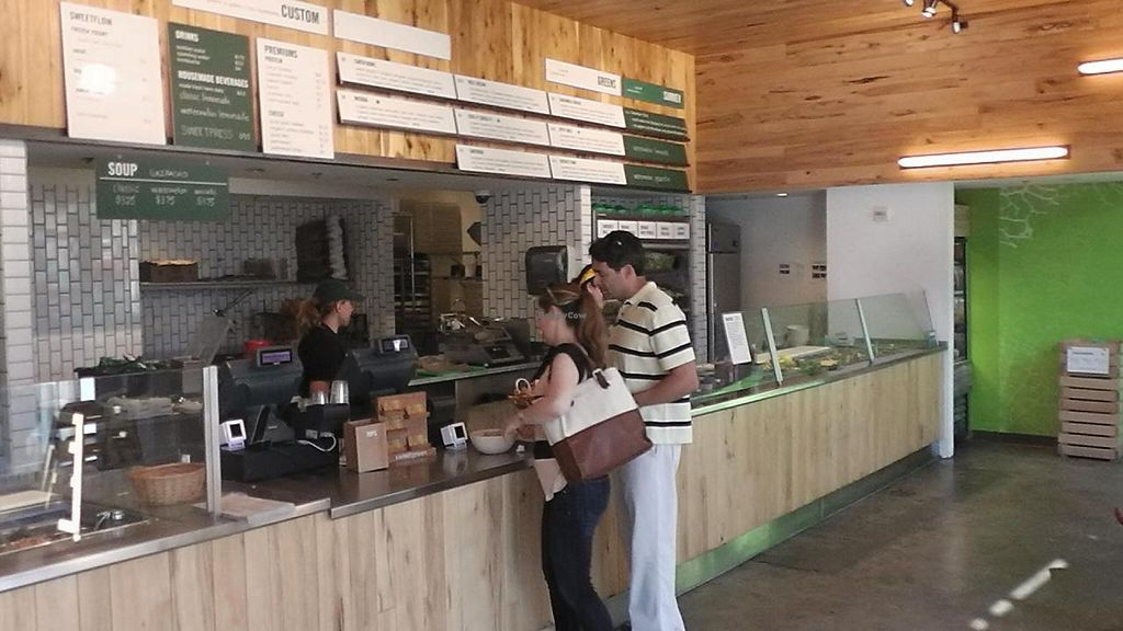 """Photo of sweetgreen - Wilson Blvd  by <a href=""""/members/profile/kenvegan"""">kenvegan</a> <br/>Inside Sweetgreen <br/> September 27, 2014  - <a href='/contact/abuse/image/51750/81387'>Report</a>"""