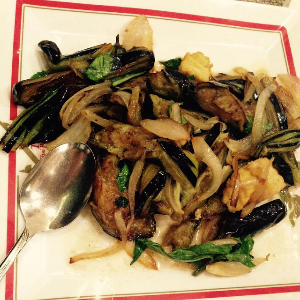 "Photo of Thai Thai Restaurant  by <a href=""/members/profile/Labylala"">Labylala</a> <br/>stir fry eggplant basil with tofu <br/> July 4, 2015  - <a href='/contact/abuse/image/51767/108077'>Report</a>"