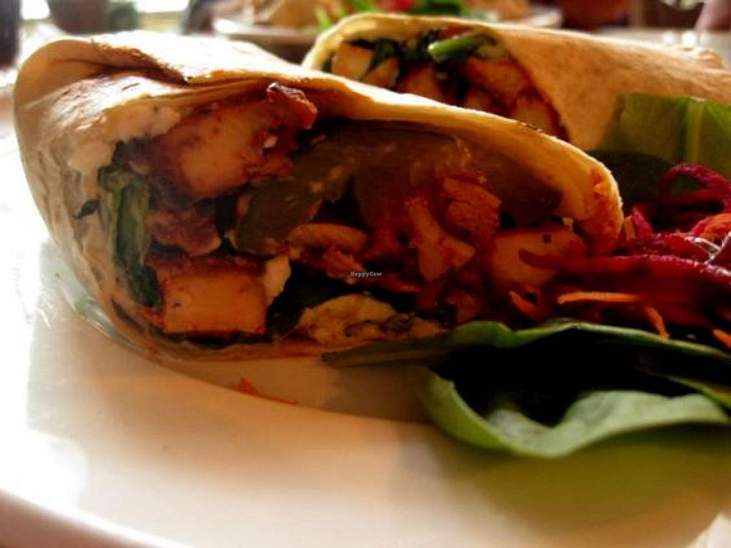 """Photo of CLOSED: Le Cagibi  by <a href=""""/members/profile/Babette"""">Babette</a> <br/>BBQ Wrap. Amazing. Can be made vegan upon request <br/> October 23, 2014  - <a href='/contact/abuse/image/5179/83756'>Report</a>"""
