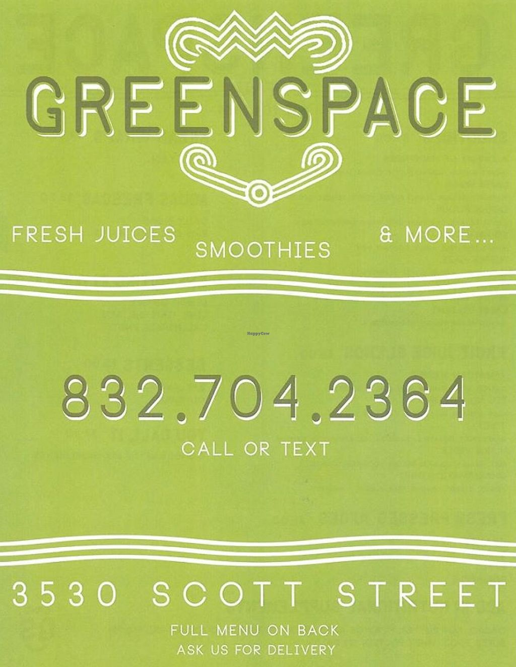"Photo of GreenSpace Juice Bar  by <a href=""/members/profile/community"">community</a> <br/>GreenSpace Juice Bar <br/> September 28, 2014  - <a href='/contact/abuse/image/51802/228361'>Report</a>"