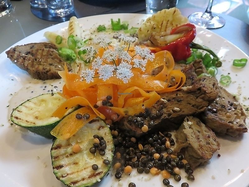 """Photo of Water en Vuur  by <a href=""""/members/profile/TrudiBruges"""">TrudiBruges</a> <br/>grilled seitan, Water & Vuur, Diksmuide <br/> November 19, 2017  - <a href='/contact/abuse/image/51810/326956'>Report</a>"""