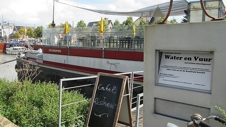 """Photo of Water en Vuur  by <a href=""""/members/profile/TrudiBruges"""">TrudiBruges</a> <br/>Boat, with terrace on upper deck, Water & Vuur, Diksmuide <br/> November 19, 2017  - <a href='/contact/abuse/image/51810/326959'>Report</a>"""