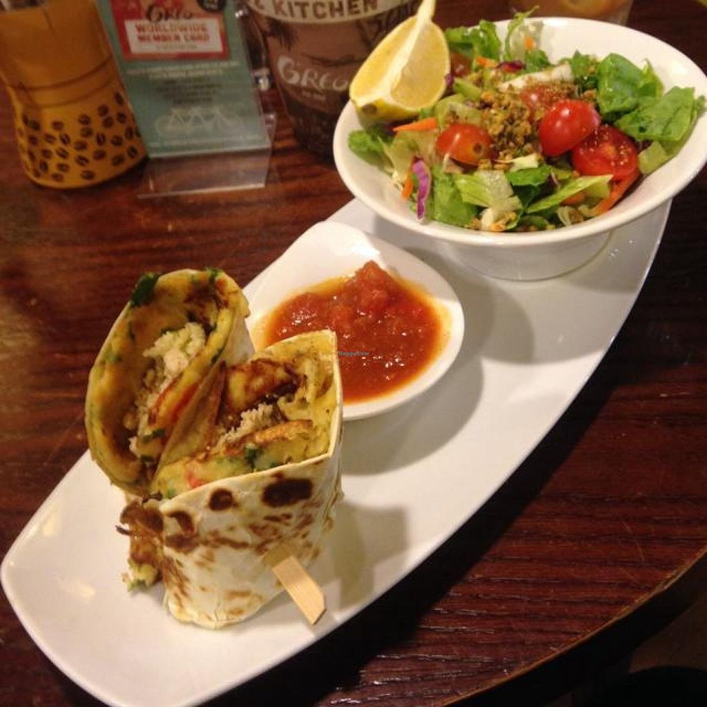 """Photo of Cafe Greg - Dizengoff Center  by <a href=""""/members/profile/Brok%20O.%20Lee"""">Brok O. Lee</a> <br/>Spanish Roll with Salad <br/> September 29, 2014  - <a href='/contact/abuse/image/51813/81601'>Report</a>"""