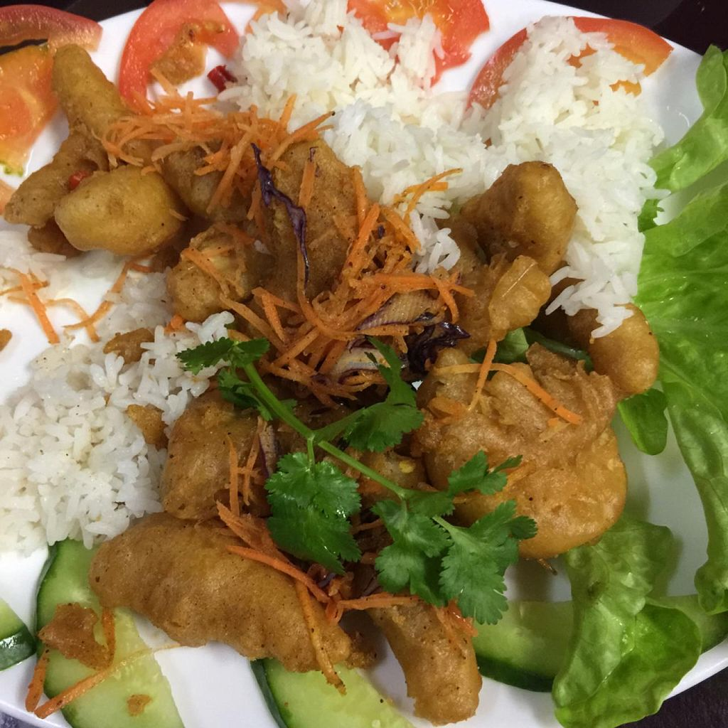 """Photo of Zenhouse Vegetarian Fusion  by <a href=""""/members/profile/AaronTimo"""">AaronTimo</a> <br/>salt and pepper 'prawns' <br/> June 15, 2015  - <a href='/contact/abuse/image/51835/106062'>Report</a>"""