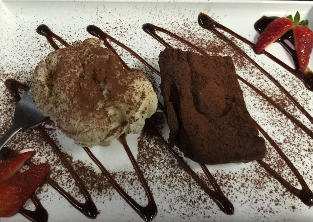 """Photo of Zenhouse Vegetarian Fusion  by <a href=""""/members/profile/AaronTimo"""">AaronTimo</a> <br/>dark choc brownie with vegan ice cream  <br/> June 15, 2015  - <a href='/contact/abuse/image/51835/106063'>Report</a>"""