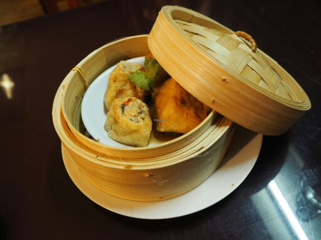 """Photo of Zenhouse Vegetarian Fusion  by <a href=""""/members/profile/JanineBarthel"""">JanineBarthel</a> <br/>stuffed tofu entree <br/> March 3, 2016  - <a href='/contact/abuse/image/51835/138591'>Report</a>"""
