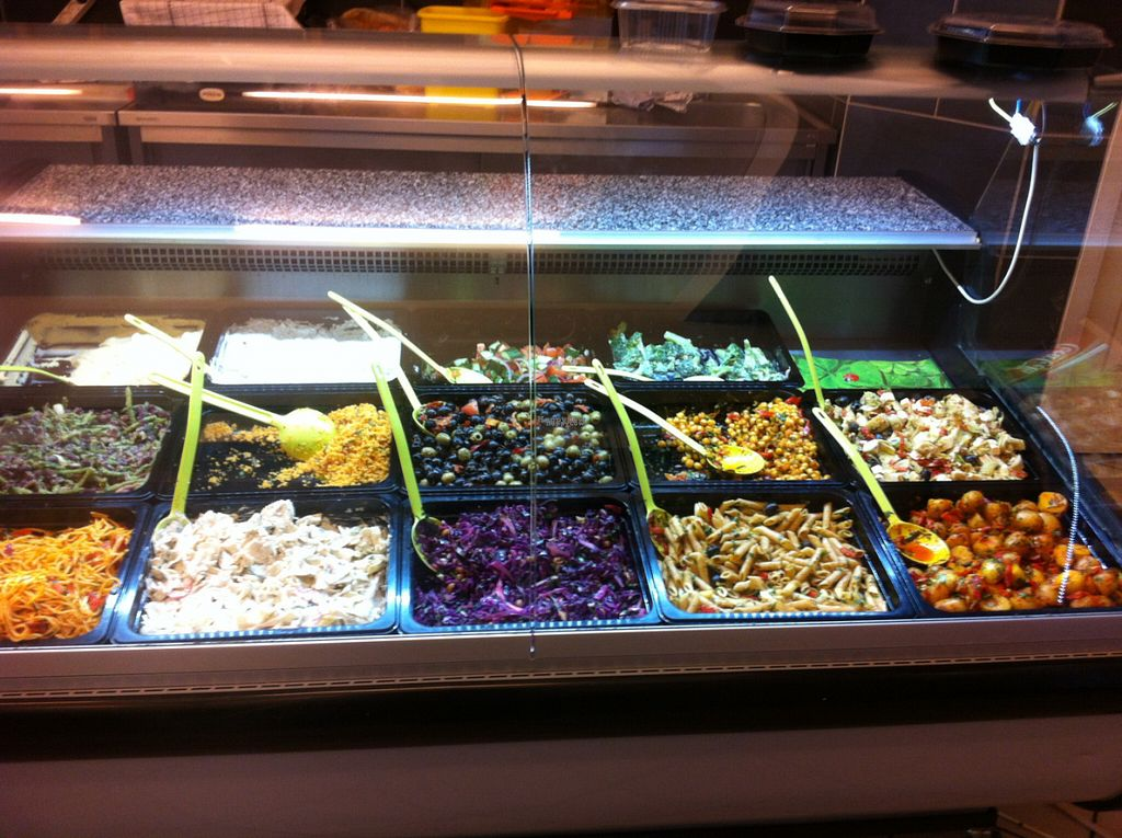 """Photo of CLOSED: Tria Deli  by <a href=""""/members/profile/piffelina"""">piffelina</a> <br/>A selection of salads <br/> August 3, 2016  - <a href='/contact/abuse/image/51837/164801'>Report</a>"""