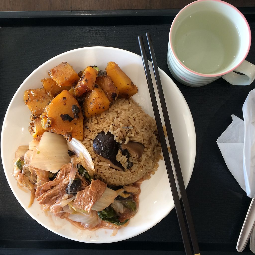 """Photo of IBAA Chatswood - Fo Guang Yuan  by <a href=""""/members/profile/evoontoast"""">evoontoast</a> <br/>Mushroom Rice w/ two choices <br/> January 17, 2018  - <a href='/contact/abuse/image/5184/347410'>Report</a>"""