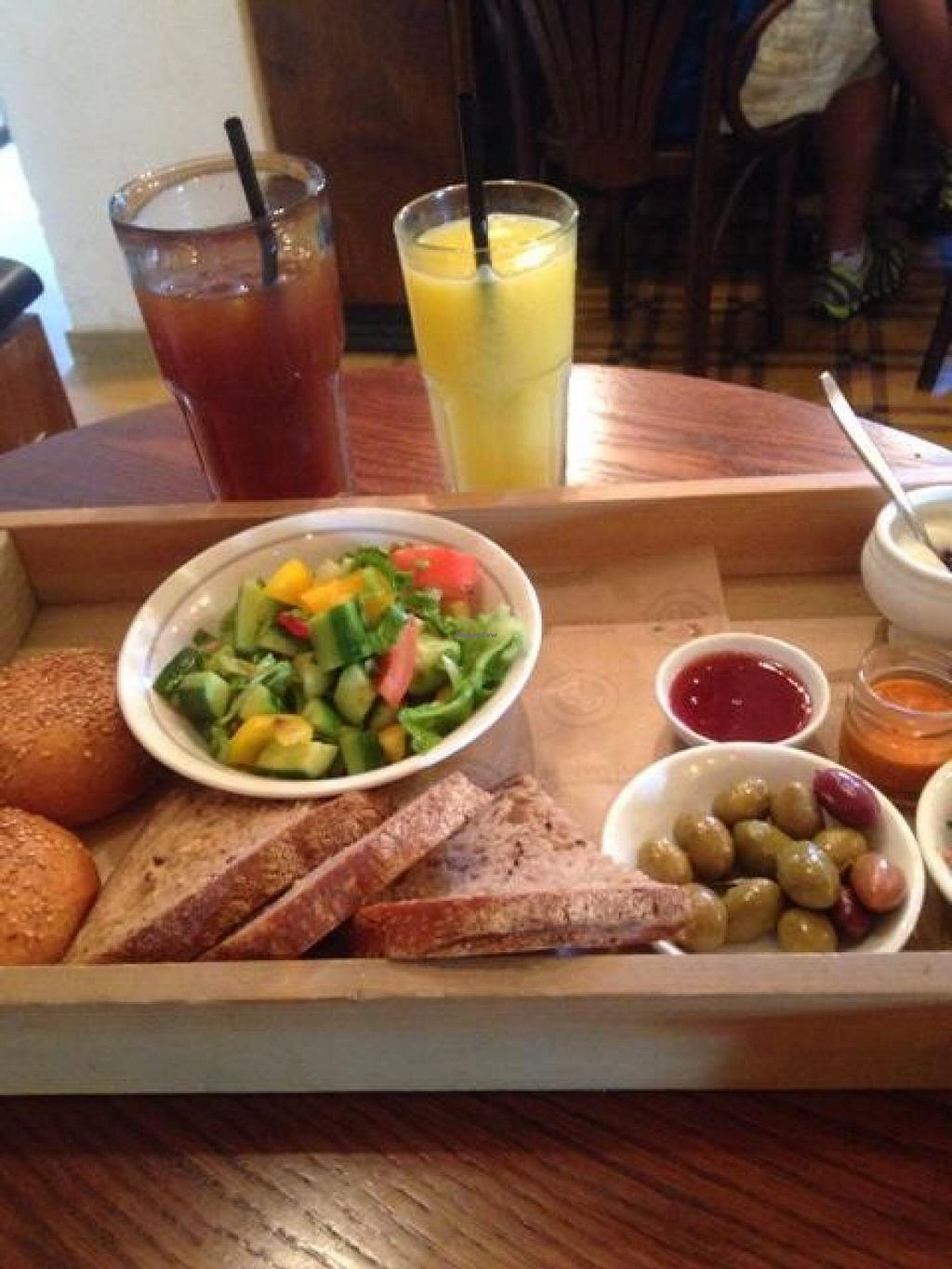 """Photo of Cafe Landwer - Sarona  by <a href=""""/members/profile/Brok%20O.%20Lee"""">Brok O. Lee</a> <br/>Part of big vegan breakfast <br/> October 17, 2014  - <a href='/contact/abuse/image/51890/83170'>Report</a>"""