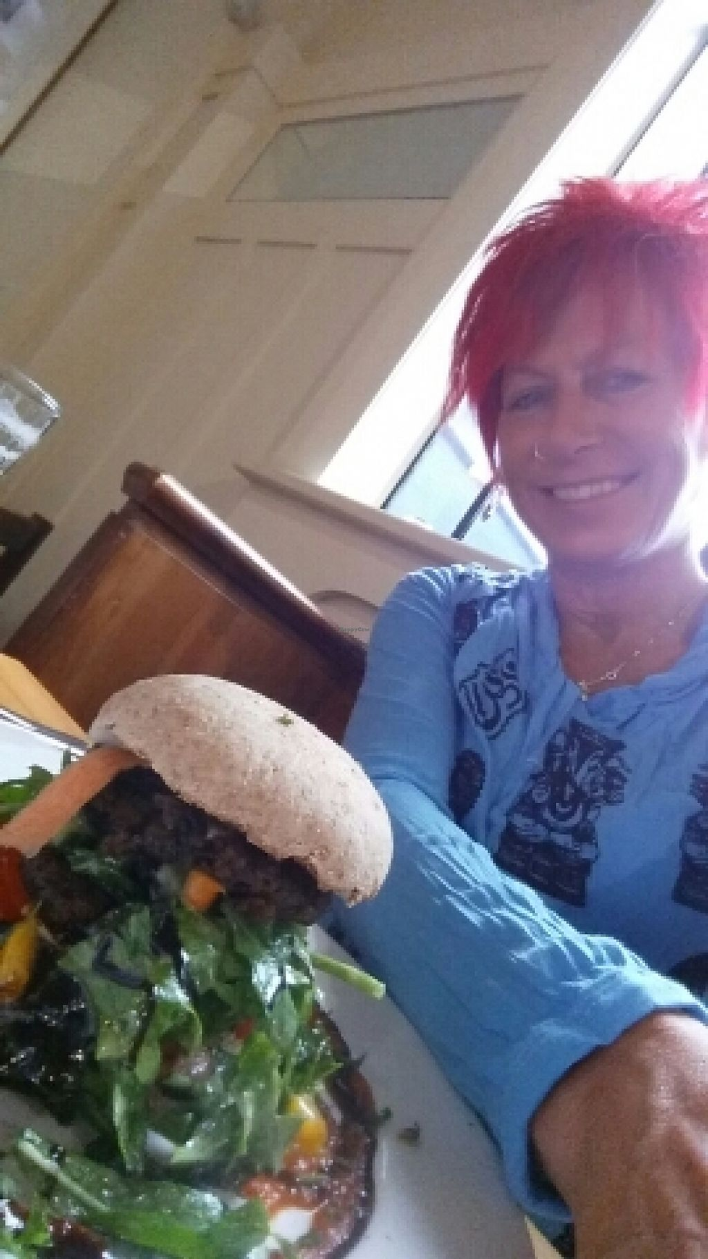 """Photo of Cafe Royale  by <a href=""""/members/profile/NessyBee"""">NessyBee</a> <br/>Vegan lentil burger <br/> November 18, 2015  - <a href='/contact/abuse/image/51920/125447'>Report</a>"""