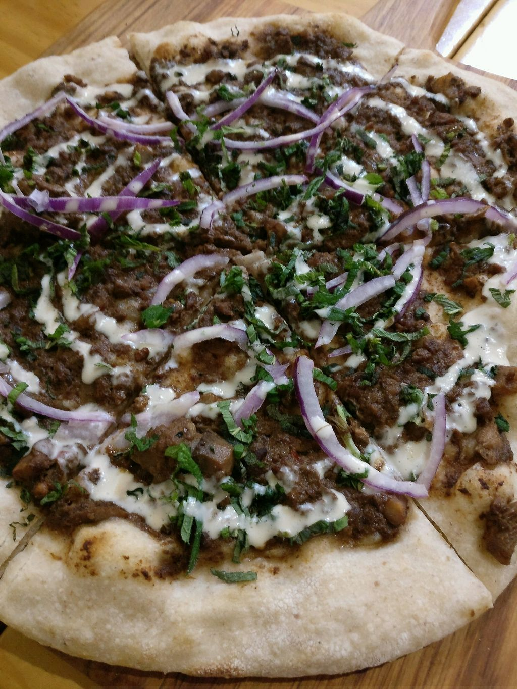 """Photo of Cafe Royale  by <a href=""""/members/profile/Aloo"""">Aloo</a> <br/>pizza with mushrooms, walnuts, tahini, red onions..yum <br/> September 15, 2017  - <a href='/contact/abuse/image/51920/304642'>Report</a>"""