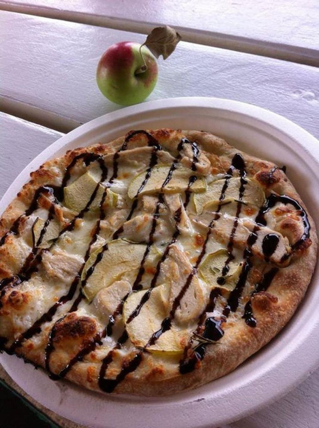 """Photo of Pizza Carrello  by <a href=""""/members/profile/community"""">community</a> <br/>apple and banana pizza  <br/> October 6, 2014  - <a href='/contact/abuse/image/51924/82306'>Report</a>"""