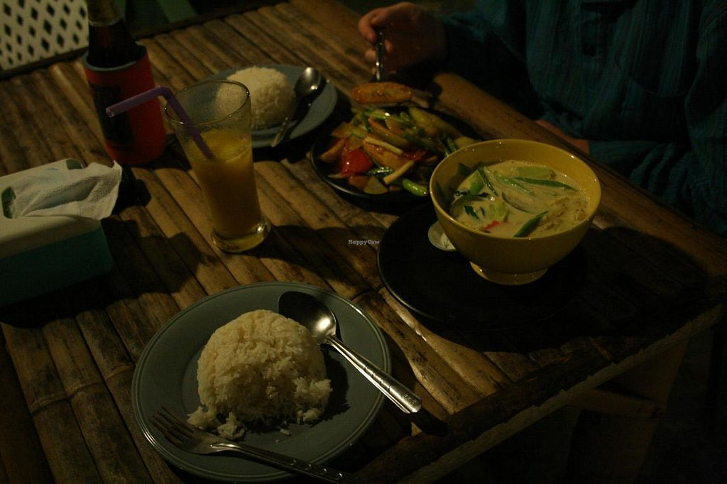 """Photo of Peace Paradise Restaurant  by <a href=""""/members/profile/Tereza-soucitne.cz"""">Tereza-soucitne.cz</a> <br/>Coconut chilli and tofu with green beans <br/> October 4, 2014  - <a href='/contact/abuse/image/51939/82101'>Report</a>"""