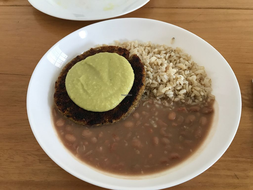 """Photo of Barao Natural - Baraozinho  by <a href=""""/members/profile/Paolla"""">Paolla</a> <br/>Cauliflower burger with rice and beans <br/> September 26, 2017  - <a href='/contact/abuse/image/51963/308770'>Report</a>"""