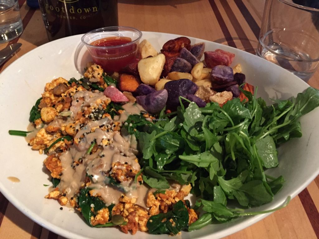 """Photo of Root Down - Airport  by <a href=""""/members/profile/clovely.vegan"""">clovely.vegan</a> <br/>Tofu Scramble.  <br/> November 29, 2015  - <a href='/contact/abuse/image/52012/126546'>Report</a>"""