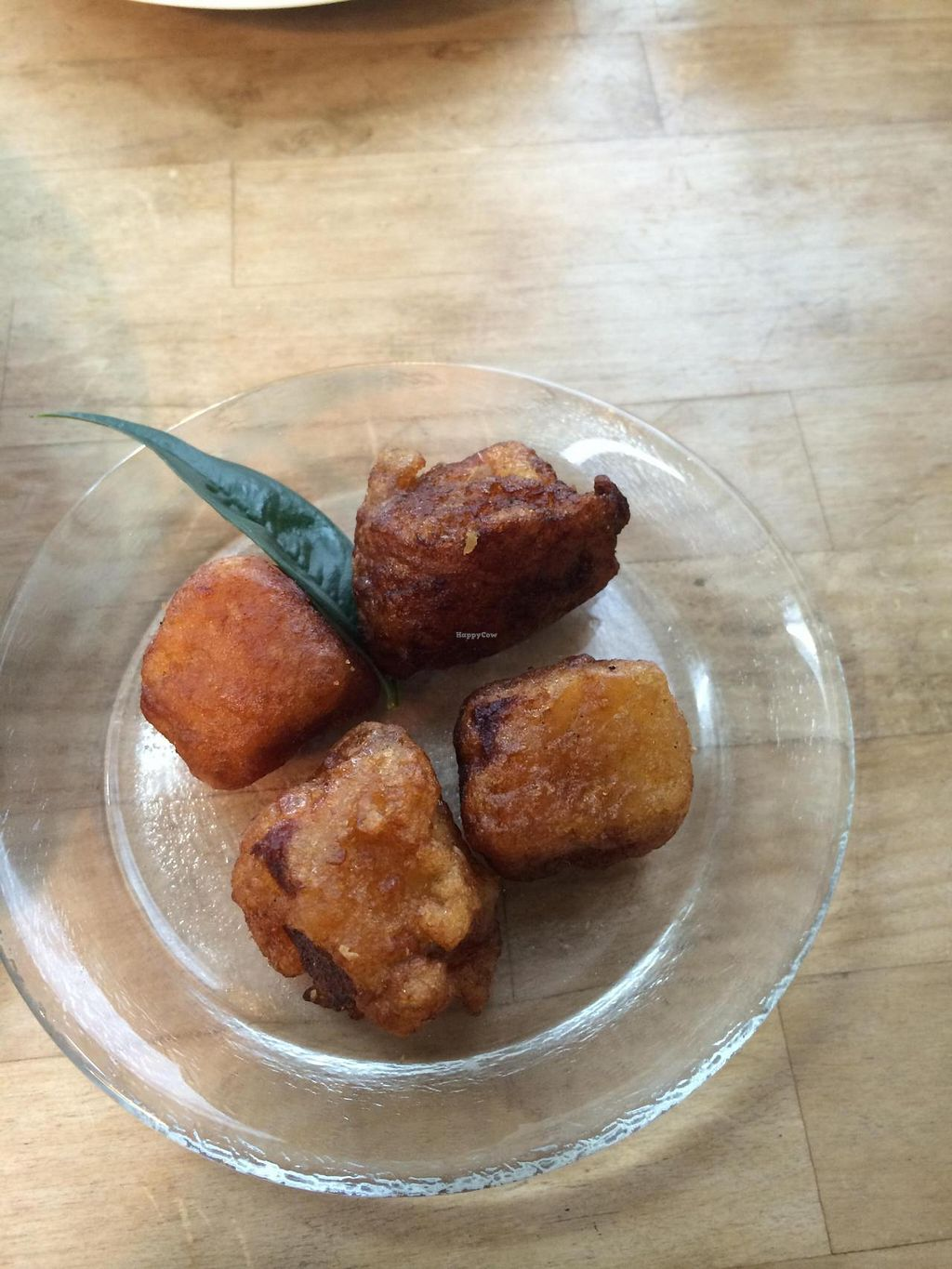 """Photo of Cafe Bonheur  by <a href=""""/members/profile/Vegeiko"""">Vegeiko</a> <br/>Koya tofu nugget <br/> October 7, 2014  - <a href='/contact/abuse/image/52034/82384'>Report</a>"""