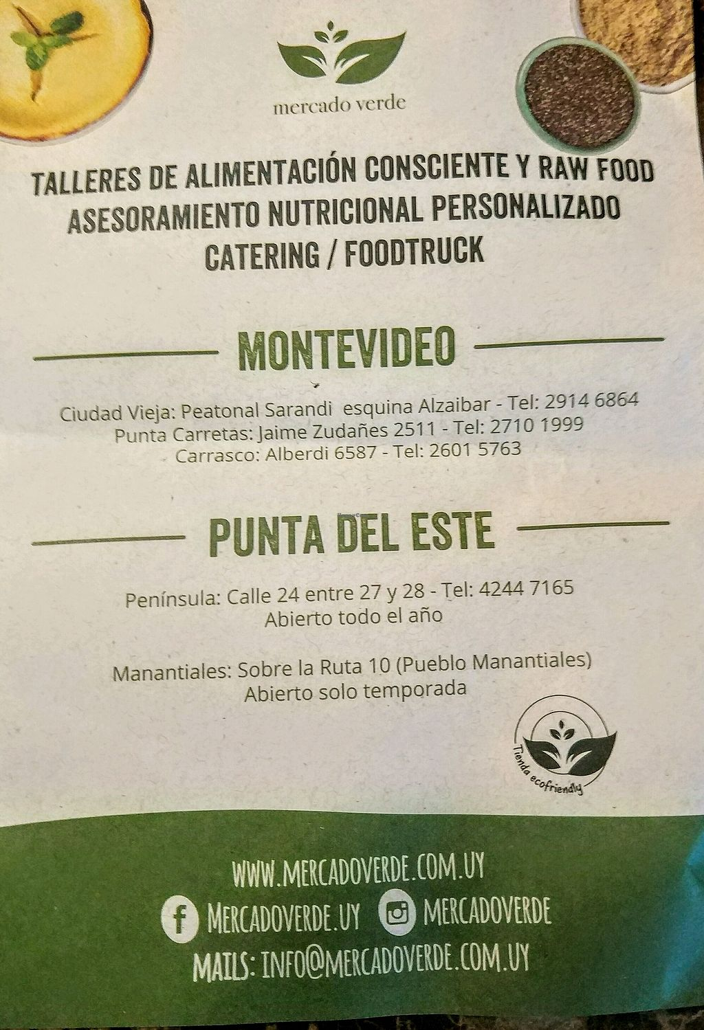 "Photo of Mercado Verde - Jaime Zudanes  by <a href=""/members/profile/Aquilesgc"">Aquilesgc</a> <br/>Folleto 2, direcciones <br/> October 4, 2017  - <a href='/contact/abuse/image/52061/311836'>Report</a>"