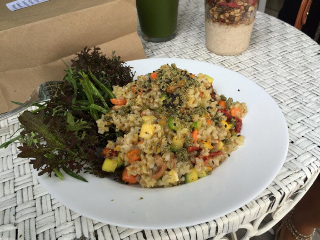 """Photo of Mercado Verde - Jaime Zudanes  by <a href=""""/members/profile/cuckooworld"""">cuckooworld</a> <br/>vegan risotto super fresh <br/> March 3, 2015  - <a href='/contact/abuse/image/52061/94714'>Report</a>"""