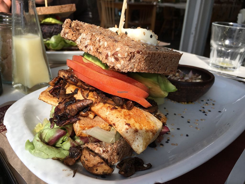 """Photo of Aldea Nativa  by <a href=""""/members/profile/peas-full"""">peas-full</a> <br/>vegan sandwich with tofu <br/> November 30, 2017  - <a href='/contact/abuse/image/52134/330935'>Report</a>"""