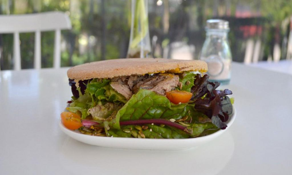 """Photo of Aldea Nativa  by <a href=""""/members/profile/alenaza"""">alenaza</a> <br/>Meat sandwich with avocado, lettuce and tomato <br/> October 25, 2014  - <a href='/contact/abuse/image/52134/83847'>Report</a>"""