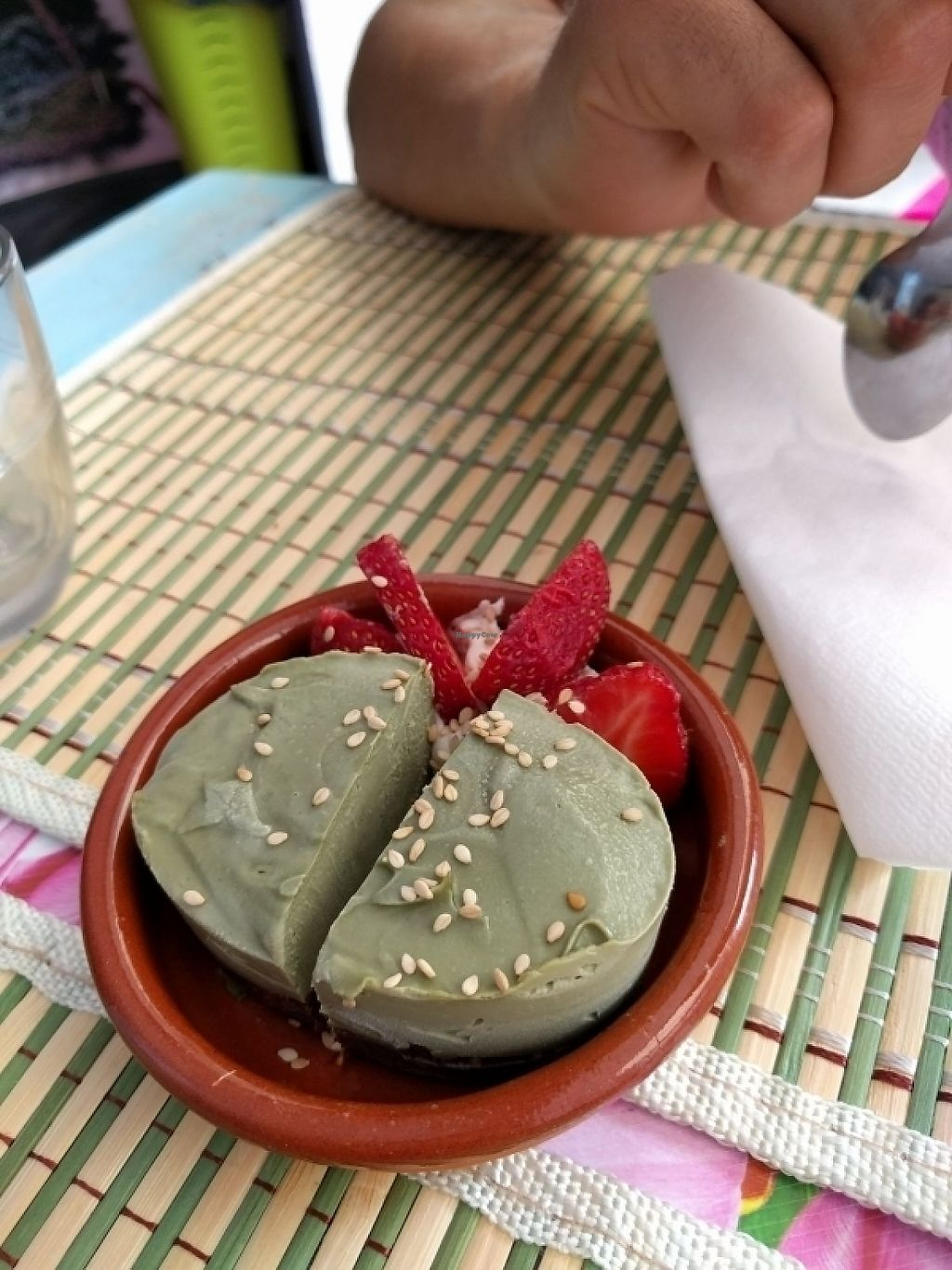 """Photo of Honestbar  by <a href=""""/members/profile/Bobbaria"""">Bobbaria</a> <br/>raw vegan cheesecake matcha thee <br/> May 29, 2017  - <a href='/contact/abuse/image/52141/263762'>Report</a>"""