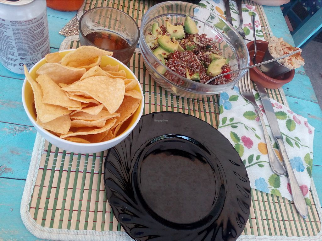 """Photo of Honestbar  by <a href=""""/members/profile/wyrd"""">wyrd</a> <br/>Quinoa salad and hummus <br/> August 24, 2017  - <a href='/contact/abuse/image/52141/296847'>Report</a>"""