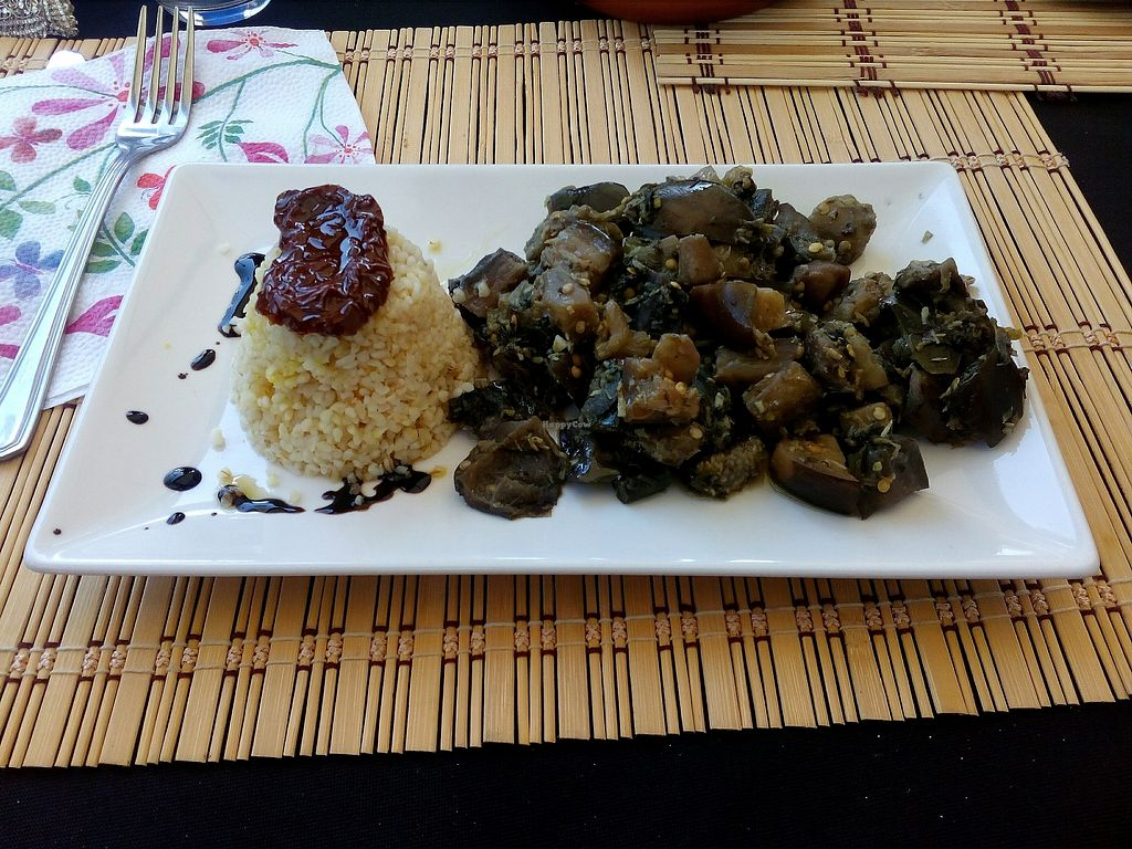 """Photo of Honestbar  by <a href=""""/members/profile/wyrd"""">wyrd</a> <br/>Aubergines and bulgur <br/> August 24, 2017  - <a href='/contact/abuse/image/52141/296850'>Report</a>"""