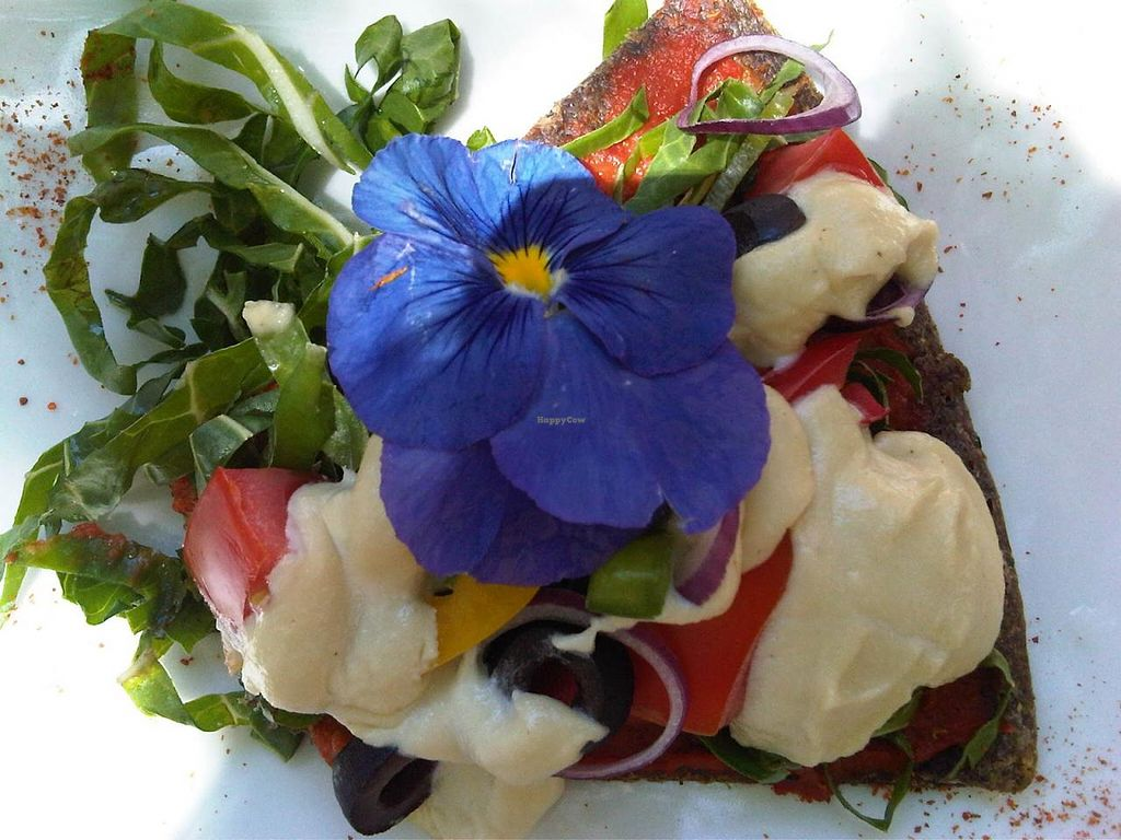"""Photo of Joburg Vegan  by <a href=""""/members/profile/lilliebliss"""">lilliebliss</a> <br/>Photo of raw vegan pizza from Raw at 44 Stanley (now closed) <br/> October 12, 2014  - <a href='/contact/abuse/image/52149/82741'>Report</a>"""