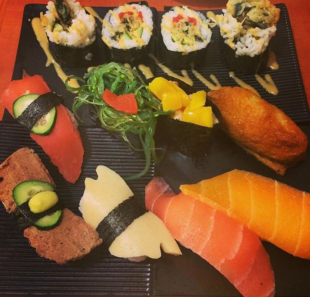 """Photo of Meet At Sakura Veggie  by <a href=""""/members/profile/kay1abear"""">kay1abear</a> <br/>vegan sushi  <br/> July 10, 2016  - <a href='/contact/abuse/image/52169/158904'>Report</a>"""