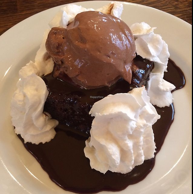 """Photo of CLOSED: Brasserie Lola  by <a href=""""/members/profile/fiona_k"""">fiona_k</a> <br/>chocolate cake w/ ice cream and soy whip  <br/> June 26, 2017  - <a href='/contact/abuse/image/52172/273708'>Report</a>"""