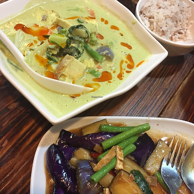 "Photo of Thai Vegetarian Food  by <a href=""/members/profile/Ashni"">Ashni</a> <br/>green curry and aubergine thai basil dish <br/> February 4, 2018  - <a href='/contact/abuse/image/52173/354897'>Report</a>"