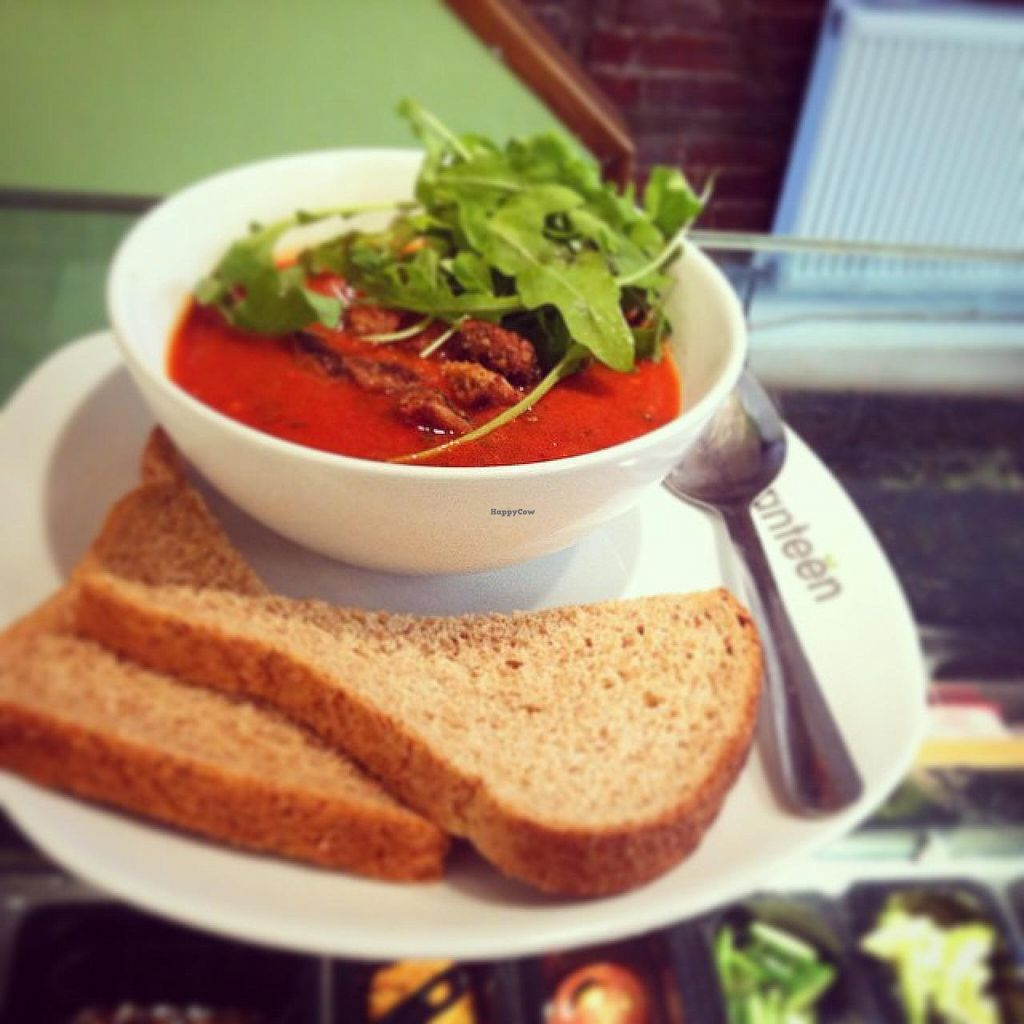 """Photo of Canteen  by <a href=""""/members/profile/community"""">community</a> <br/>tomato soup <br/> October 22, 2014  - <a href='/contact/abuse/image/52188/83700'>Report</a>"""