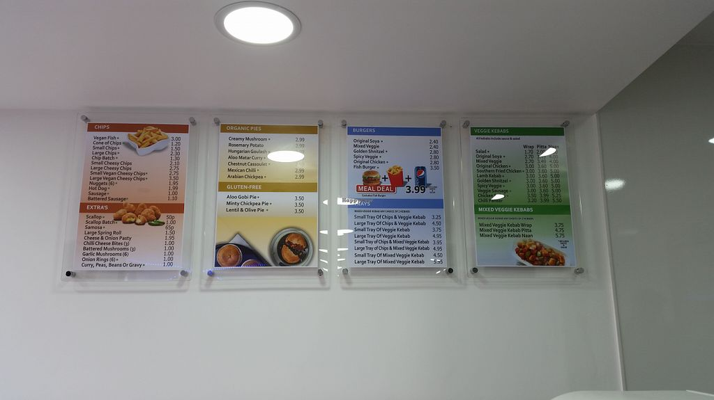 """Photo of The Veggie Corner  by <a href=""""/members/profile/konlish"""">konlish</a> <br/>inside menu, green dot for vegan <br/> August 15, 2015  - <a href='/contact/abuse/image/52193/113653'>Report</a>"""