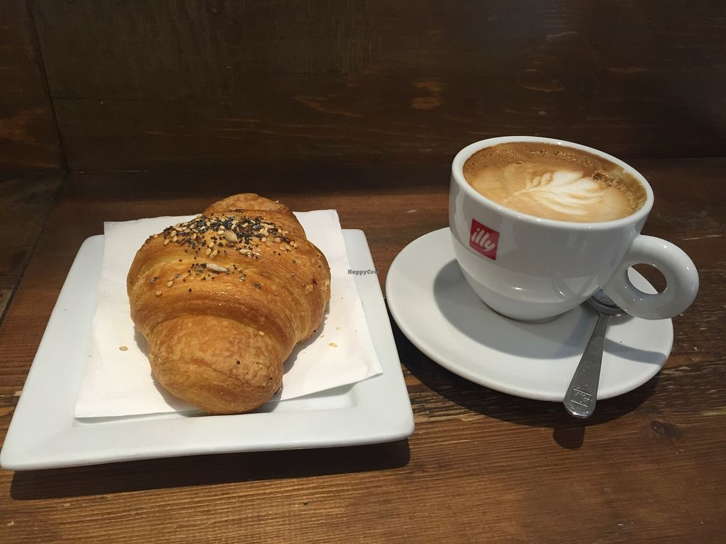 """Photo of Shake Cafe - Degli Avelli  by <a href=""""/members/profile/veganamanda"""">veganamanda</a> <br/>Vegan pastry and cappuccino <br/> May 10, 2016  - <a href='/contact/abuse/image/52235/148295'>Report</a>"""