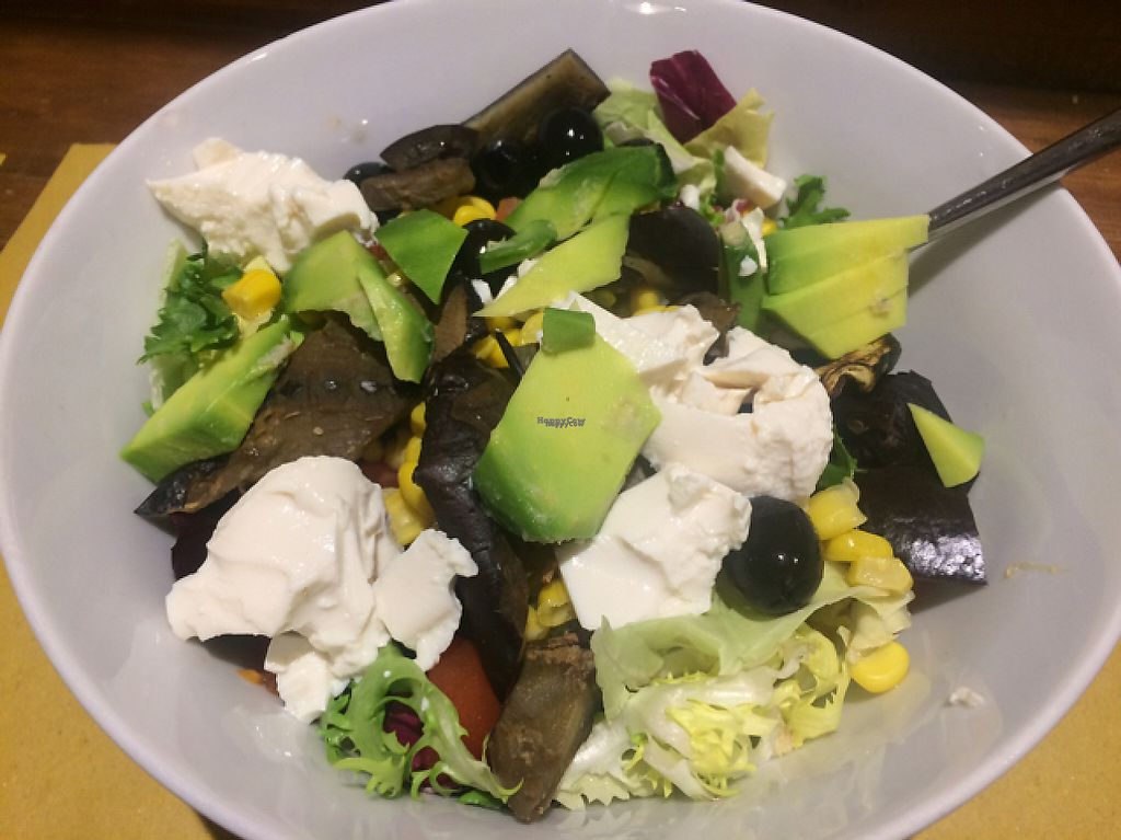 """Photo of Shake Cafe - Degli Avelli  by <a href=""""/members/profile/FatTonyBMX"""">FatTonyBMX</a> <br/>Vegan salad with tofu. Boring and not much taste for the price.  <br/> February 20, 2017  - <a href='/contact/abuse/image/52235/228482'>Report</a>"""