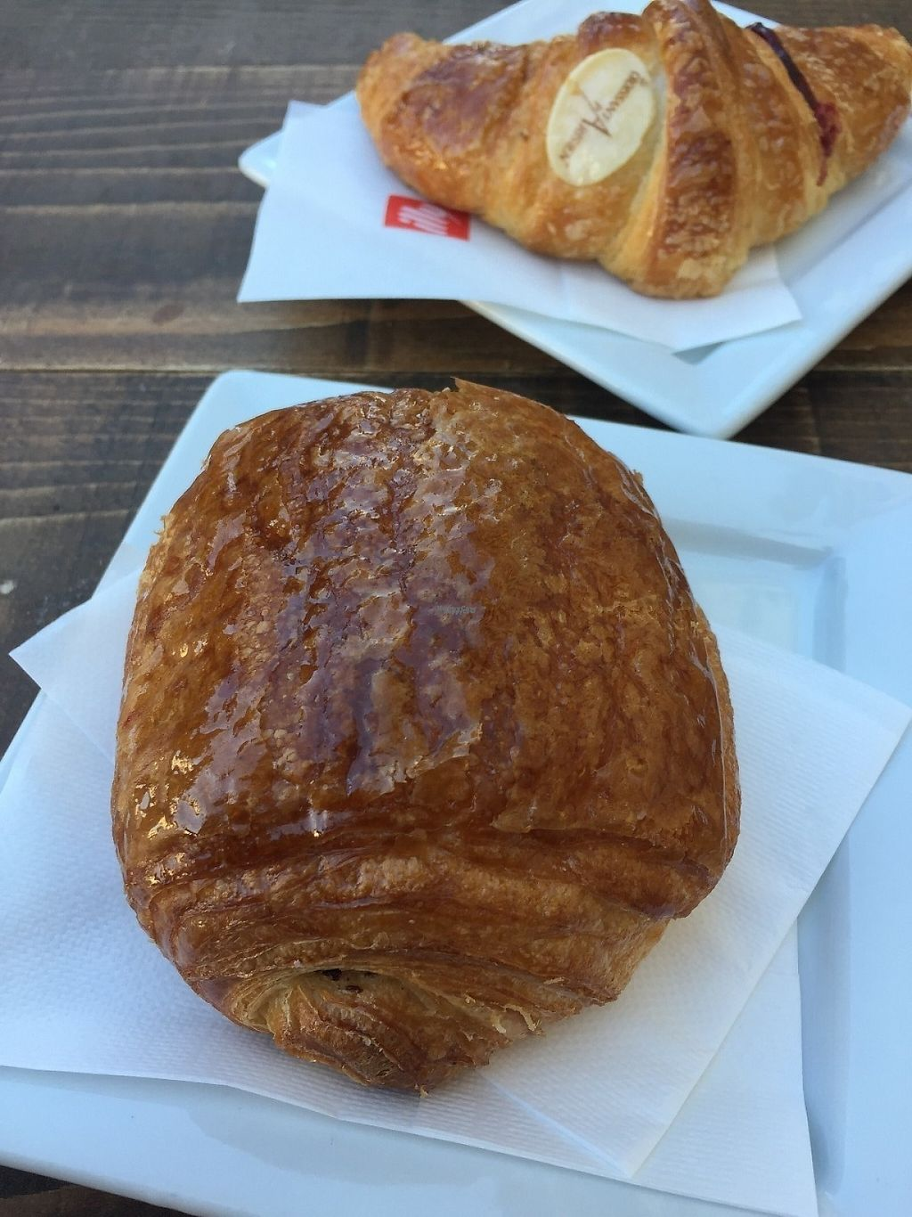 """Photo of Shake Cafe - Degli Avelli  by <a href=""""/members/profile/VeganPrairieGirl"""">VeganPrairieGirl</a> <br/>Two Vegan Brioche/Croissants  The back one with Jam, the front is with chocolate <br/> March 22, 2017  - <a href='/contact/abuse/image/52235/239600'>Report</a>"""