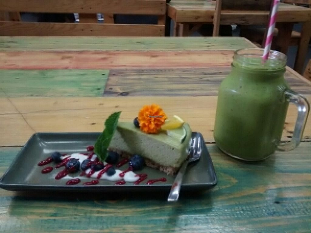 """Photo of Cafe Nurcha  by <a href=""""/members/profile/chalybeus"""">chalybeus</a> <br/>key lime pie and smoothly <br/> November 13, 2015  - <a href='/contact/abuse/image/52248/124907'>Report</a>"""