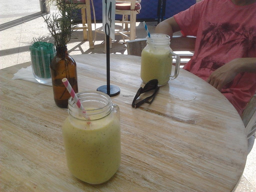 """Photo of Cafe Nurcha  by <a href=""""/members/profile/Rico"""">Rico</a> <br/>Tropical Nights smoothies. These might not look like much, but they're sensational! <br/> January 19, 2016  - <a href='/contact/abuse/image/52248/132963'>Report</a>"""