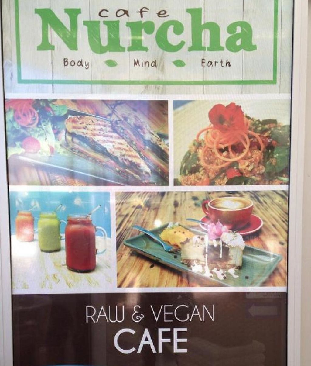 """Photo of Cafe Nurcha  by <a href=""""/members/profile/vegan%20louise"""">vegan louise</a> <br/>Cafe Nurcha sgin <br/> July 23, 2015  - <a href='/contact/abuse/image/52248/254676'>Report</a>"""