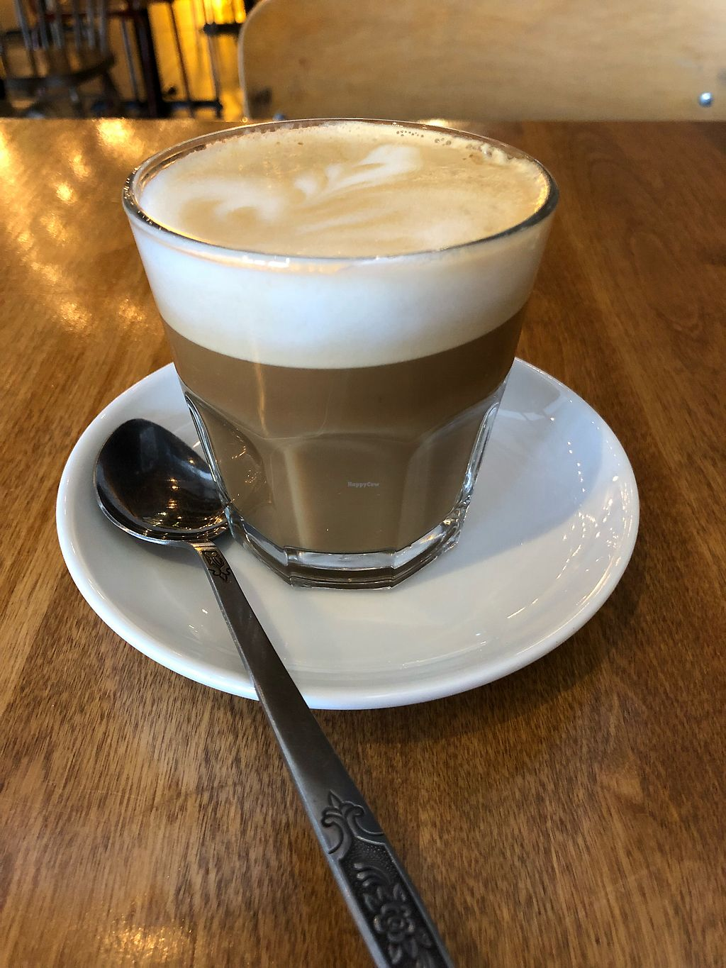"""Photo of Antidote Bouffe Vegane  by <a href=""""/members/profile/jakeadamlee"""">jakeadamlee</a> <br/>Cortado with soy milk <br/> December 13, 2017  - <a href='/contact/abuse/image/52254/335254'>Report</a>"""