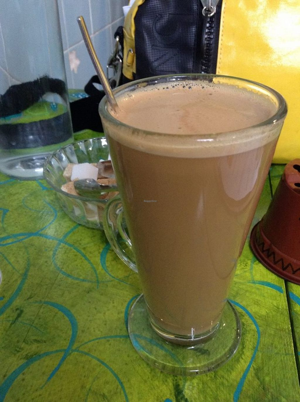 """Photo of Mudlarks Garden Cafe  by <a href=""""/members/profile/marylily2"""">marylily2</a> <br/>Soya latte.  <br/> January 29, 2016  - <a href='/contact/abuse/image/52289/134121'>Report</a>"""
