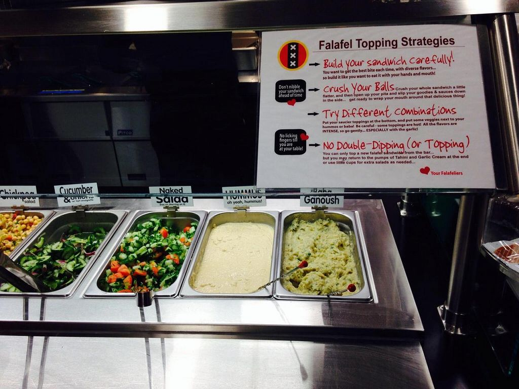 """Photo of CLOSED: Amsterdam Falafelshop  by <a href=""""/members/profile/cookiem"""">cookiem</a> <br/>Directions <br/> December 6, 2014  - <a href='/contact/abuse/image/52300/87338'>Report</a>"""