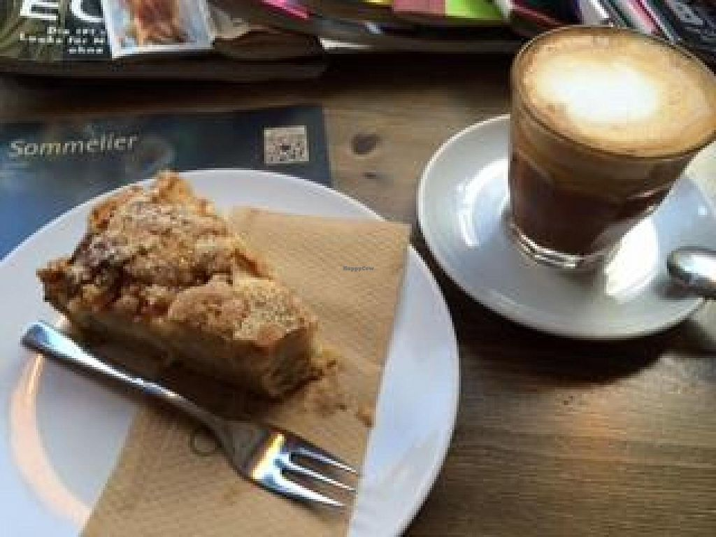"""Photo of CLOSED: angekommen  by <a href=""""/members/profile/Plantpower"""">Plantpower</a> <br/>Flat white and slice of cake <br/> October 31, 2014  - <a href='/contact/abuse/image/52316/84268'>Report</a>"""