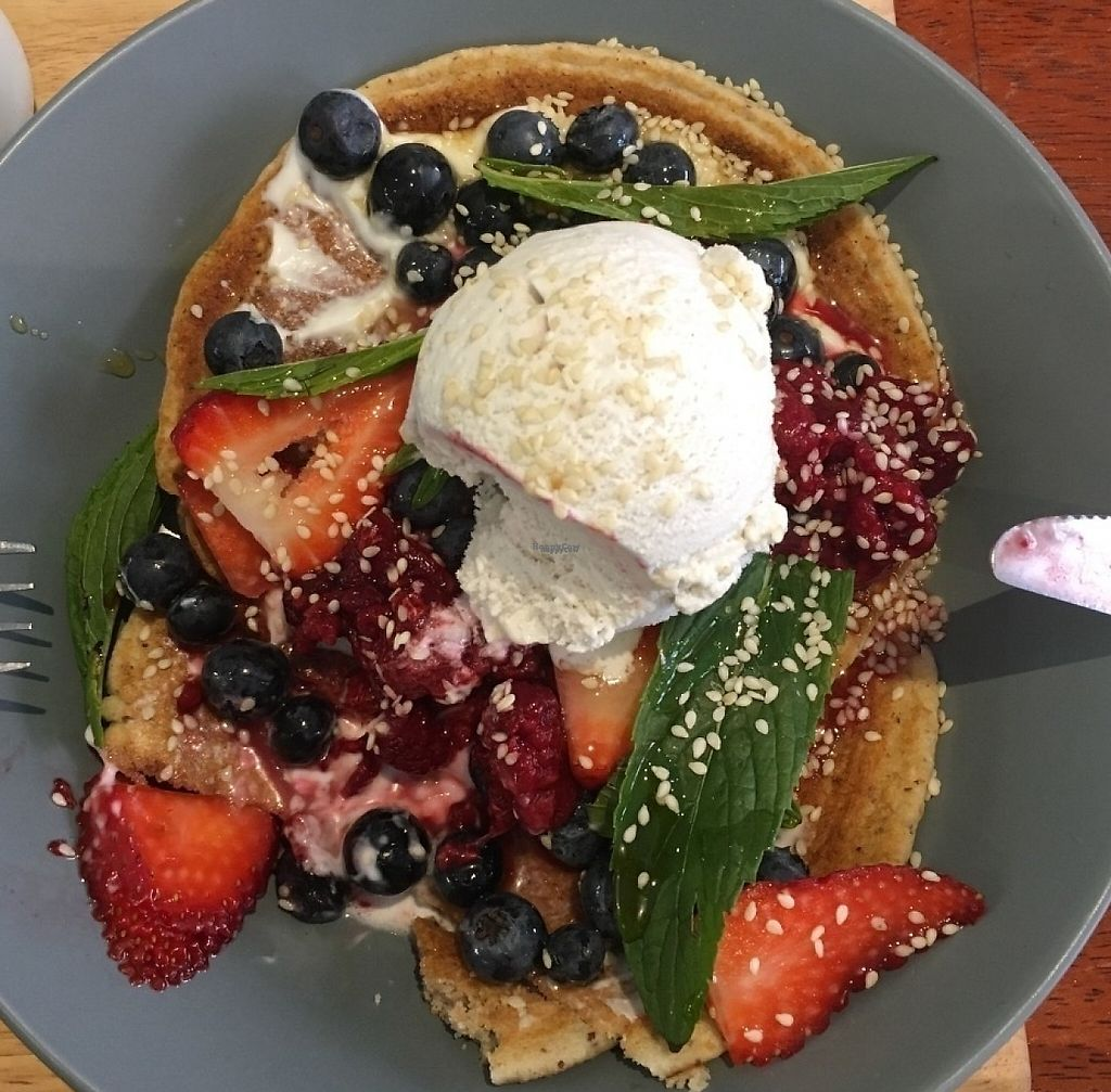 "Photo of Proteini  by <a href=""/members/profile/GeorgieMeijers"">GeorgieMeijers</a> <br/>Vegan proteinpancakes with fresh fruit and vegan coconut icecream <br/> October 27, 2016  - <a href='/contact/abuse/image/52337/248687'>Report</a>"