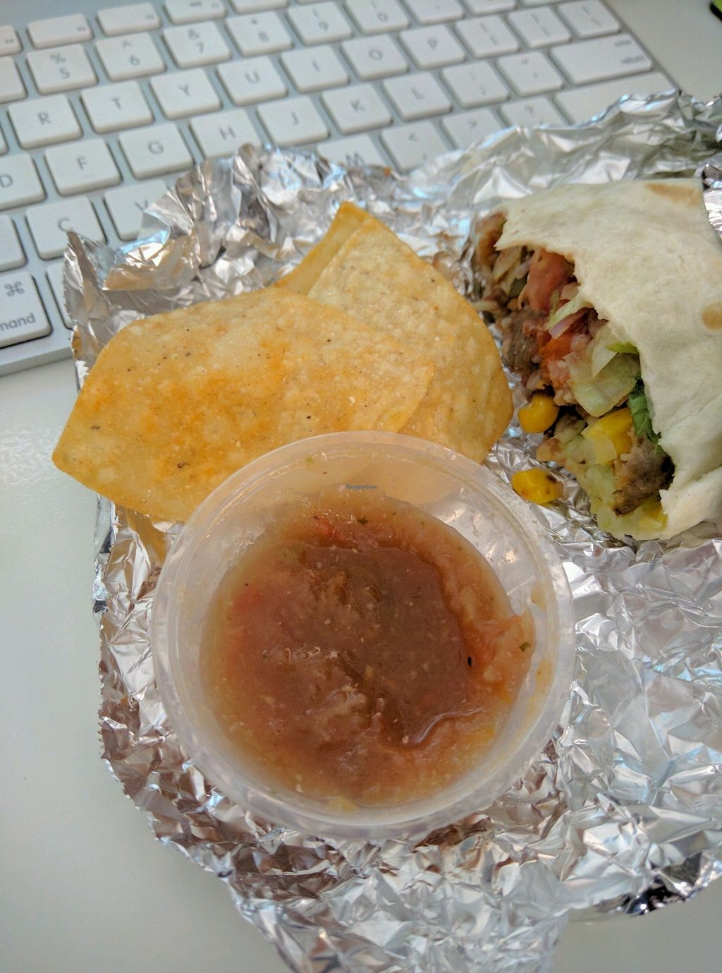 """Photo of CLOSED: Habanero - Queensbay Mall  by <a href=""""/members/profile/Summer_Tan"""">Summer_Tan</a> <br/>Nacho Chips and Salsa RM11 (Vegetable Burrito) + RM4.50 (make it a meal with Nacho Chips and a Soft Drink) <br/> January 31, 2018  - <a href='/contact/abuse/image/52340/353256'>Report</a>"""