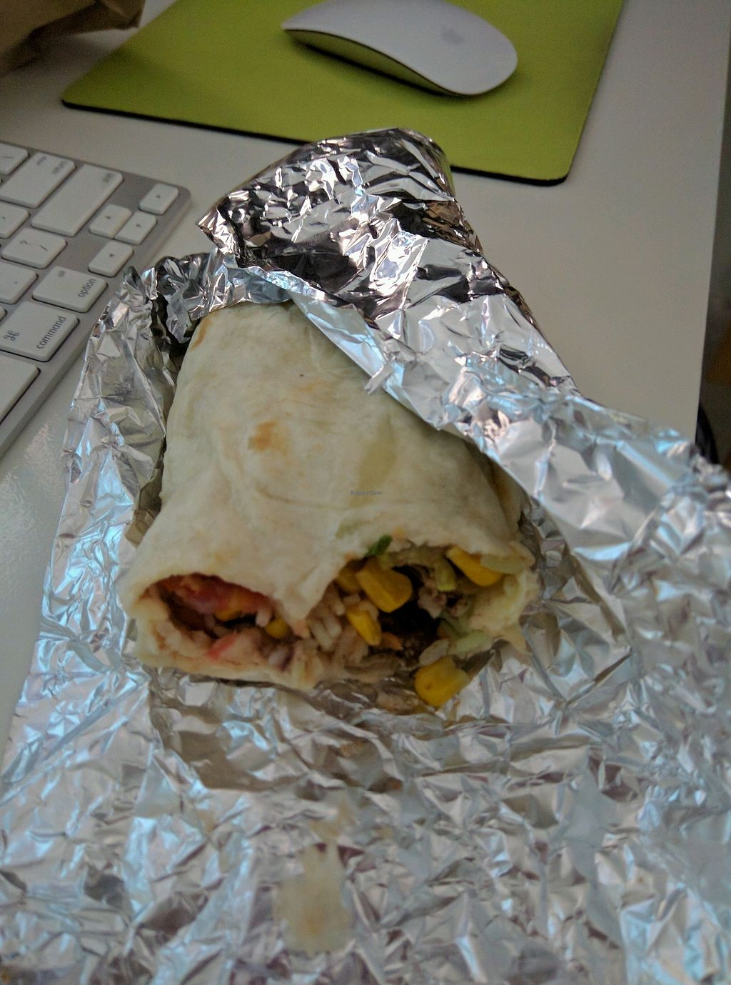 """Photo of CLOSED: Habanero - Queensbay Mall  by <a href=""""/members/profile/Summer_Tan"""">Summer_Tan</a> <br/>Vegetable Burrito with Cilantro Lime Rice and all the veggies Nacho Chips and Salsa RM11 (Vegetable Burrito) + RM4.50 (make it a meal with Nacho Chips and a Soft Drink) <br/> January 31, 2018  - <a href='/contact/abuse/image/52340/353257'>Report</a>"""