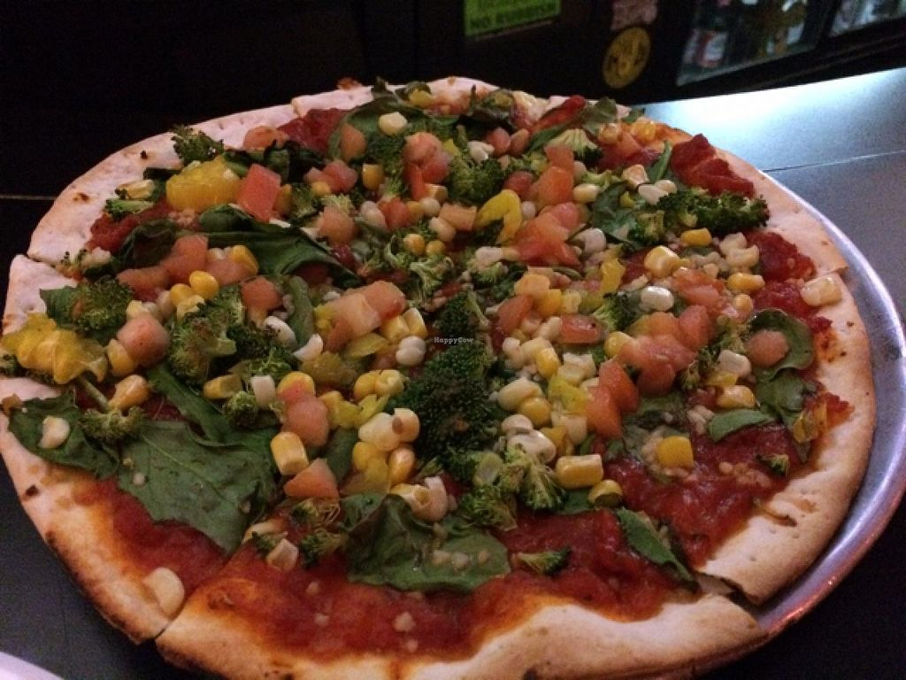 "Photo of Fong's Pizza  by <a href=""/members/profile/Vegan%20Vagabond"">Vegan Vagabond</a> <br/>No cheese. lots of veggies.  <br/> January 20, 2015  - <a href='/contact/abuse/image/52357/90886'>Report</a>"