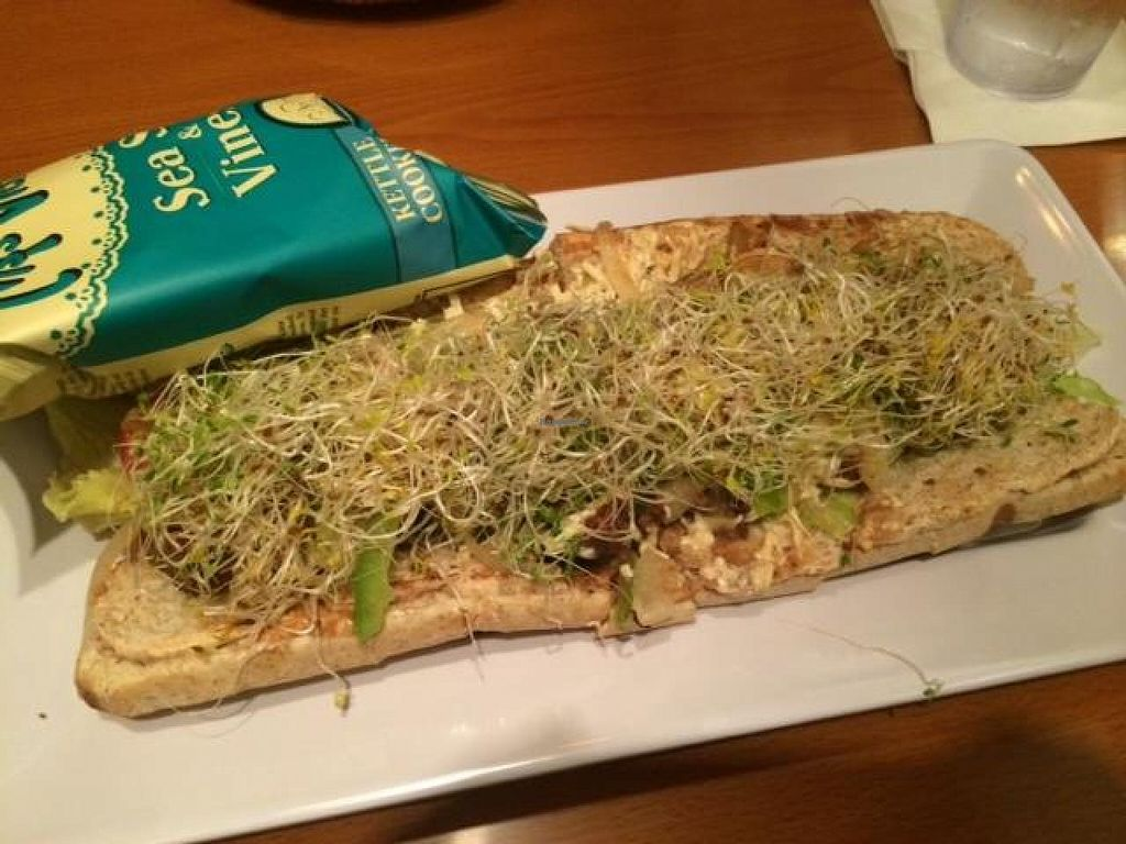 """Photo of Mellow Mushroom  by <a href=""""/members/profile/Meggie%20and%20Ben"""">Meggie and Ben</a> <br/>Tempeh sub made vegan <br/> October 22, 2014  - <a href='/contact/abuse/image/52377/83660'>Report</a>"""